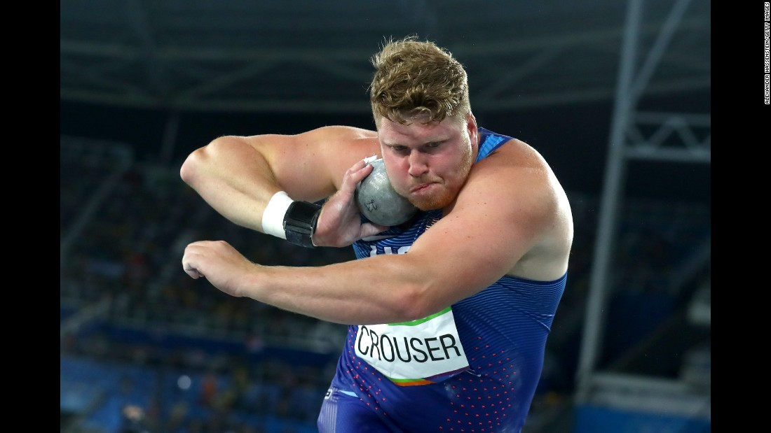 American Ryan Crouser won gold in the shot put.