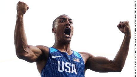 Ashton Eaton also won the Olympic title at London 2012.