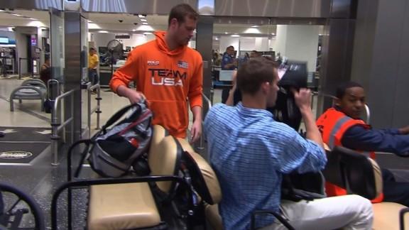 Jack Conger and Gunnar Bentz arrive back on home soil