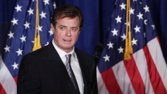"Paul Manafort, advisor to Republican presidential candidate Donald Trump's campaign, checks the teleprompters before Trump's speech at the Mayflower Hotel April 27, 2016 in Washington, DC. A real estate billionaire and reality television star, Trump beat his GOP challengers by double digits in Tuesday's presidential primaries in Pennsylvania, Maryland, Deleware, Rhode Island and Connecticut. ""I consider myself the presumptive nominee, absolutely,"" Trump told supporters at the Trump Tower following yesterday's wins."