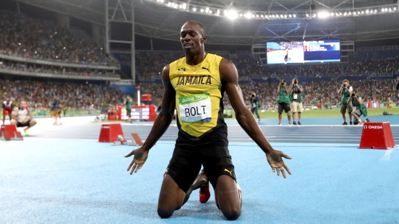 Bolt dropped to his knees as he celebrated but admitted he had perhaps used up too much energy in the semi final the day before.