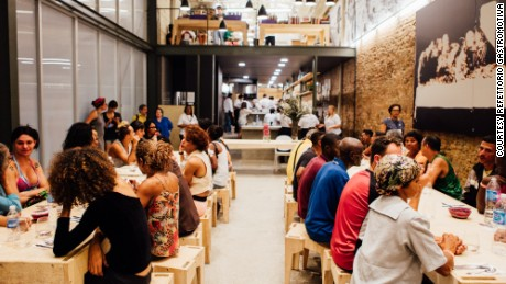 "Rio's ""Refettorio Gastromotiva"" is only serving the city's homeless population for the Olympics"