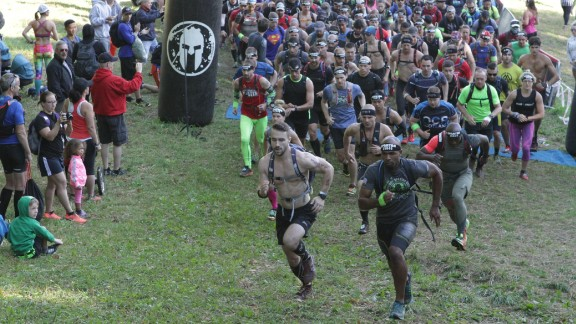 This year's Spartan Ultra Beast obstacle course race in Quebec took place over 28 miles, through 40 obstacles, running roughly 17 times up and down the Mont Owl's Head ski resort.