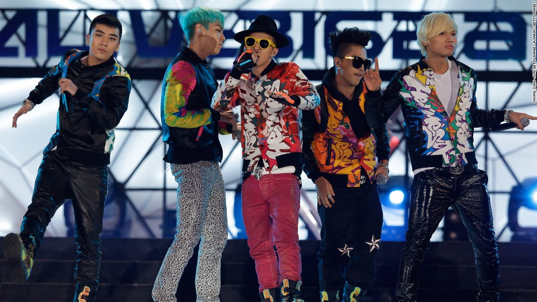 Fashion is just one industry K-pop influences in South Korea, and Changdong will pay tribute to the style of musicians. Here (from left) Seungri, TOP, G-Dragon, Taeyang and Daesung, of K-pop band Big Bang, demonstrate their own distinctive fashion.