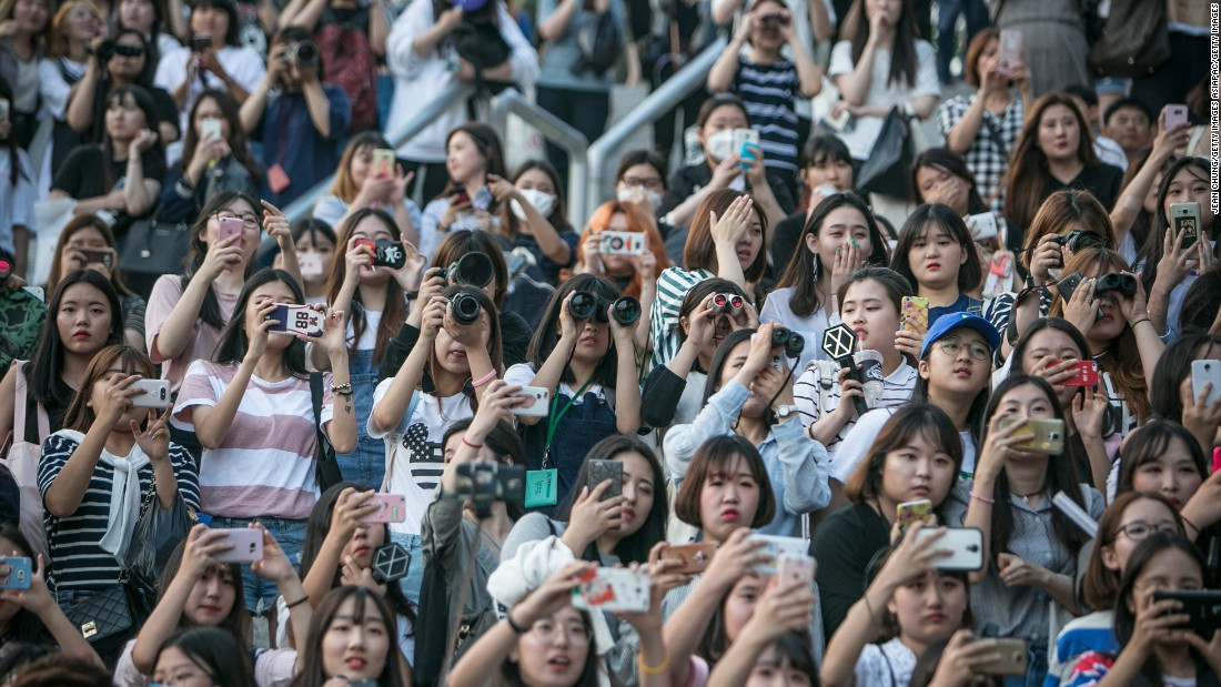 "This huge crowd of fans of Exo -- a South Korean boy band -- demonstrates the power of K-pop. The music genre is a ""fluid and a multi-faceted product,"" says David Kang, from the Education University of Hong Kong, with the ability to transfer selling power to other sectors."