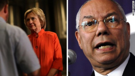 Hillary Clinton Colin Powell split