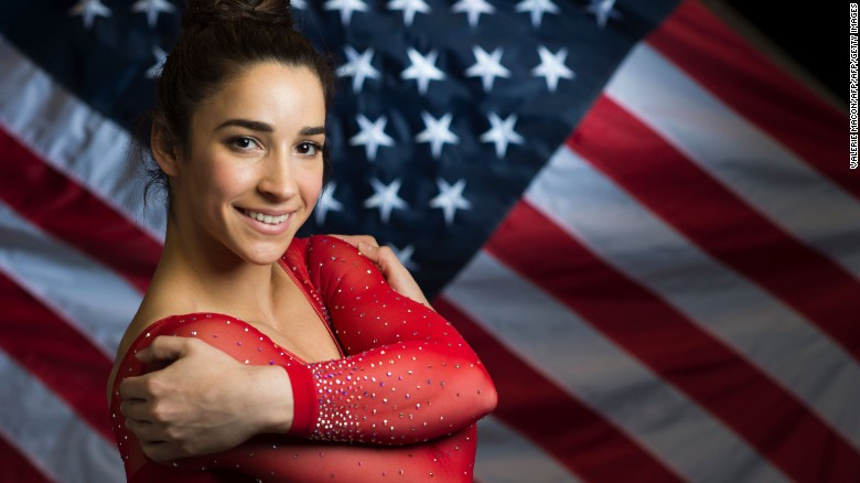 Gymnast Aly Raisman poses for a portrait at the 2016 Team USA Media Summit, March 7, 2016 in Beverly Hills, California. The 2016 Summer Olympics will be held in Rio de Janeiro, Brazil August 5-21. / AFP / VALERIE MACON / RESTRICTED TO EDITORIAL USE        (Photo credit should read VALERIE MACON/AFP/Getty Images)