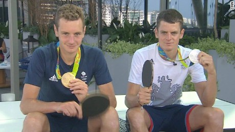 Triathlete brothers win gold and silver in Rio