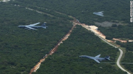 2016: Air Force deploys all three bombers at once