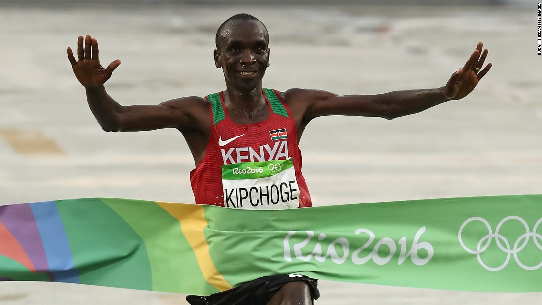 The Rio 2016 champion ran a marathon in 2:00:25 as part of the Breaking2 project in May 2017, shaving over two minutes off the previous fastest time.
