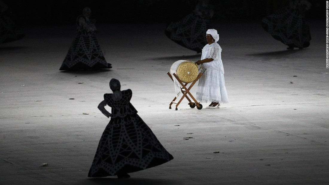 "Dancers perform the ""Lace Making"" routine."