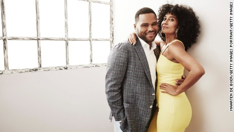 "Anthony Anderson and Tracee Ellis Ross star as Andre and Rainbow Johnson on ""Black-ish."""