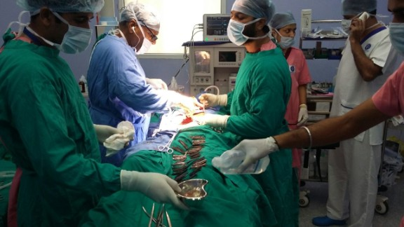 Doctors removed 40 knives from a man's stomach in India.