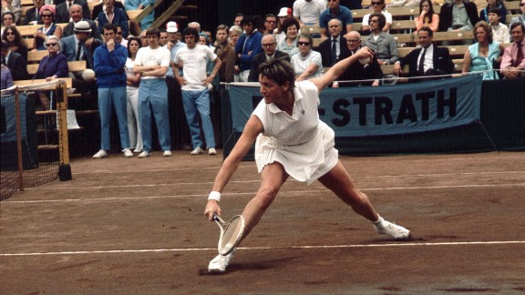 Australian tennis player Margaret Court playing in a championship match at Bournemouth in 1971.