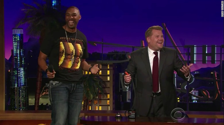 Montell Jordan performs for James Corden's birthday