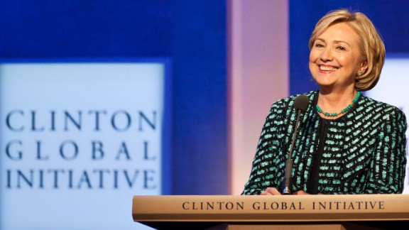 NEW YORK - SEPTEMBER 24: Former U.S. Secretary of State Hillary Clinton speaks during the annual Clinton Global Initiative (CGI) meeting on September 24, 2013 in New York City. Timed to coincide with the United Nations General Assembly, CGI brings together heads of state, CEOs, philanthropists and others to help find solutions to the world's major problems.  (Photo by Ramin Talaie/Getty Images)