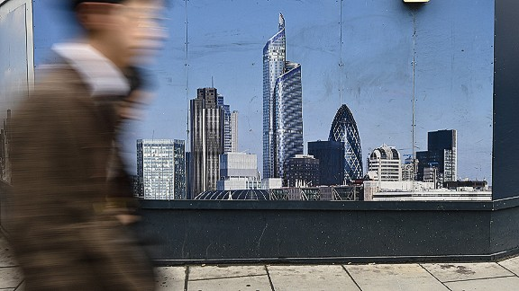 Londoners are now complaining that proposed super-tall building 22 Bishopsgate -- the construction site of which is seen here -- would block views of the Gherkin, towering over its neighbors