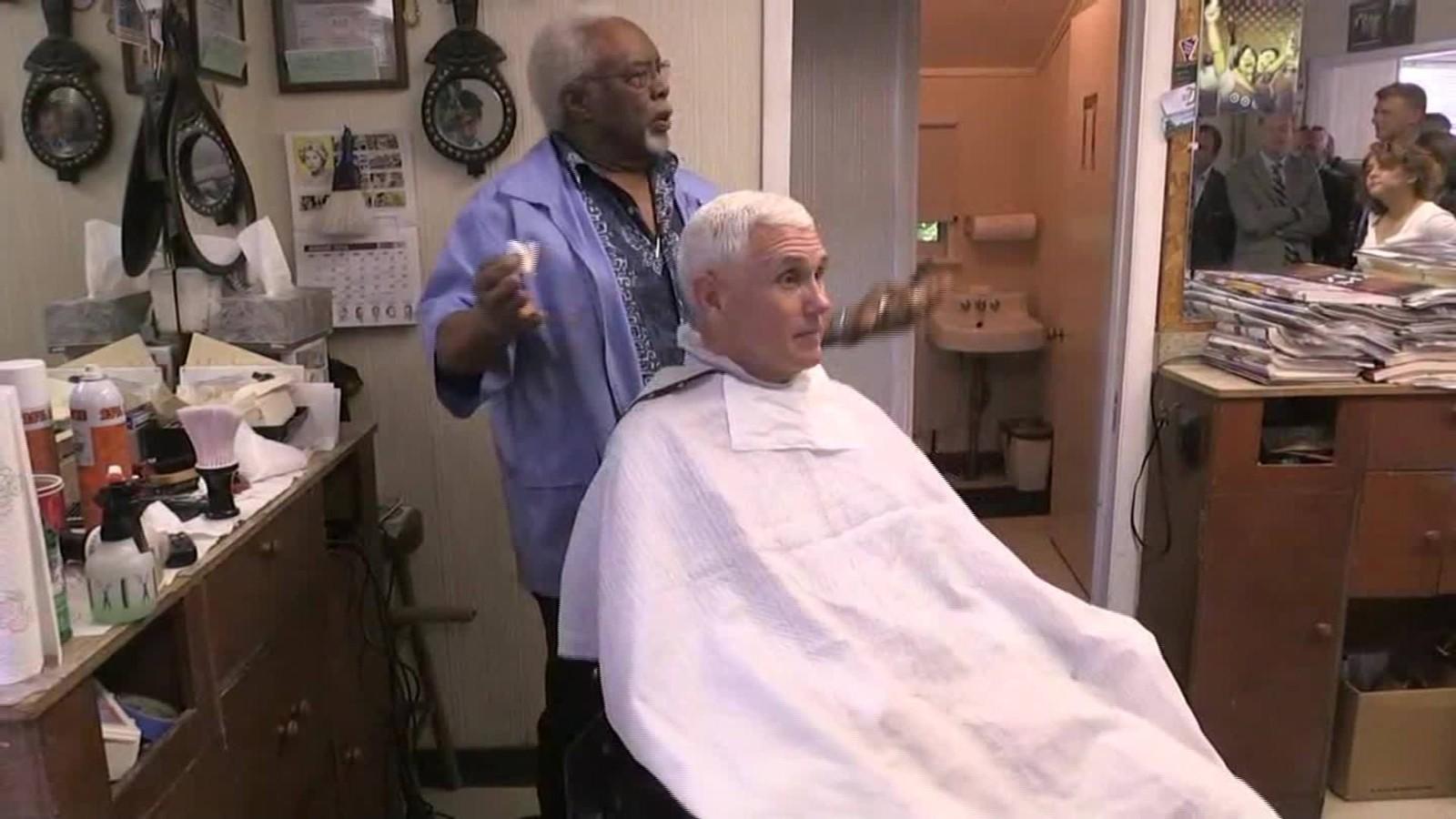 Gov Mike Pence Gets A Haircut Cnn Video
