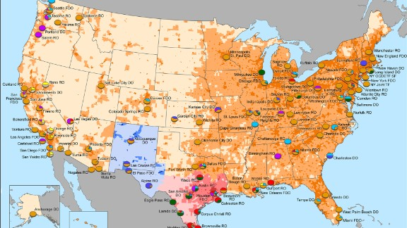 This map shows cartel influence in the United States. Source: DEA