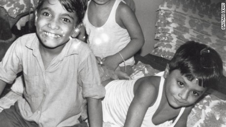 Gautam Lewis, right, doesn't know how old he was when he was taken to Shishu Bhavan, Mother Teresa's home for children.