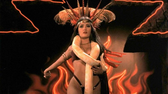 """From Dusk Till Dawn"" : Salma Hayek is the queen vampire in this Robert Rodriguez directed, Quentin Tarantino written horror film. (Hulu)"