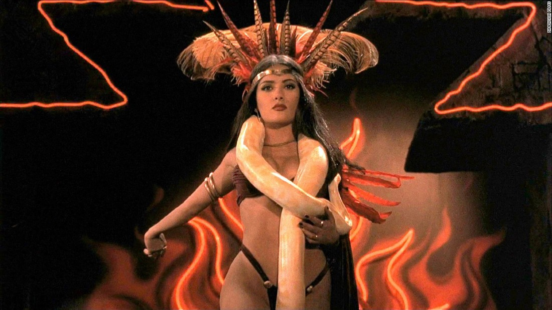 "<strong>""From Dusk Till Dawn"" </strong>: Salma Hayek is the queen vampire in this Robert Rodriguez directed, Quentin Tarantino written horror film. <strong>(Hulu) </strong>"
