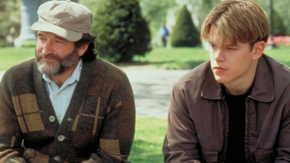 """""""Good Will Hunting"""" :  Robin Williams stars as a therapist and Matt Damon as his genius patient in the film which won Damon and Ben Affleck a writing Oscar. (Amazon Prime)"""