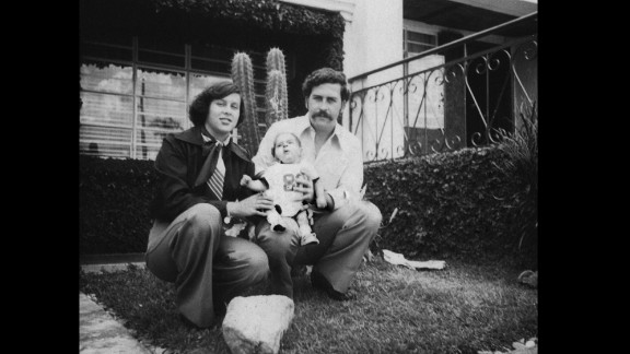 A few months after his son's birth in 1977, Pablo Escobar began to profit from trafficking drugs and moved his family to a swankier part of Medellin.