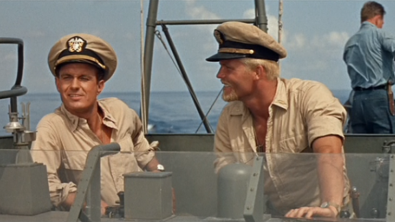 "Cliff Robertson as Lt. JG John F. Kennedy in ""PT 109"""