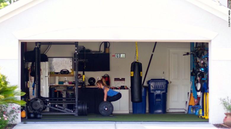 Dana Santas And Her Family Built Their Home Gym As A Collaborative Effort.