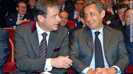 Antwerp Mayor Bart De Wever, left, with former French President Nicolas Sarkozy earlier this year.