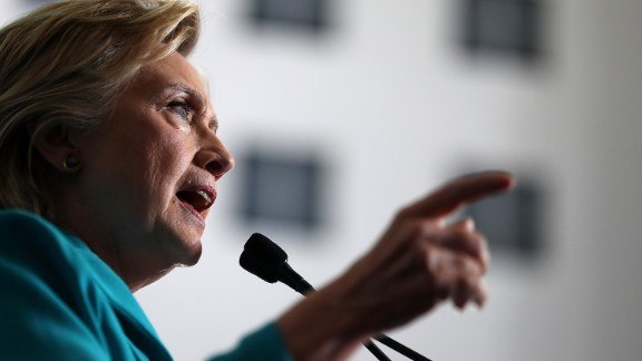Democratic presidential nominee former Secretary of State Hillary Clinton speaks during a campaign even at Truckee Meadows Community College on August 25 in Reno, Nevada.