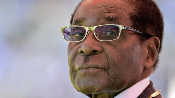 Robert Mugabe is sworn in for his seventh term as Zimbabwe's President in August 2013. He resigned in November 2017 after nearly four decades in power.