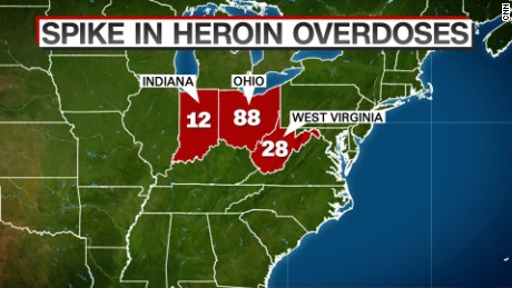 Spike in heroin overdoses overwhelms multiple states
