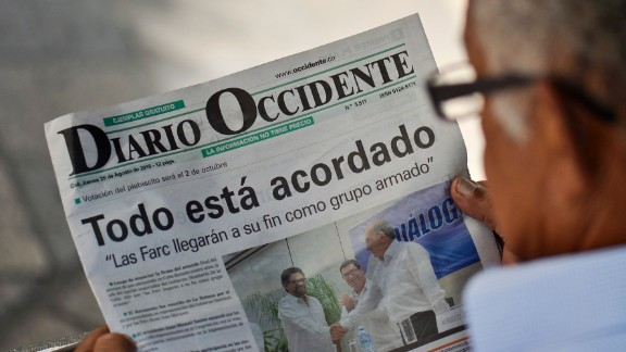 'Everything is agreed' read one newspaper headline after the peace deal was announced. Residents of Bogota are not so sure.