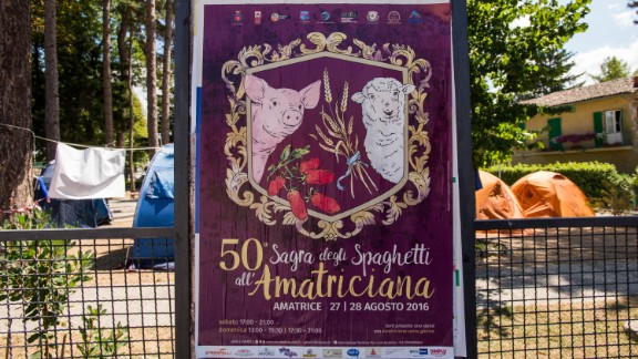 A poster for the 50th anniversary of Amatrice