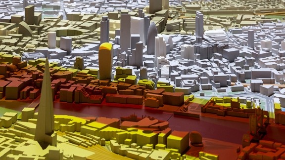 There are over 430 tall buildings in the works for London. Any project under construction or with planning permission can be highlighted on the model with 3D-printing technology.