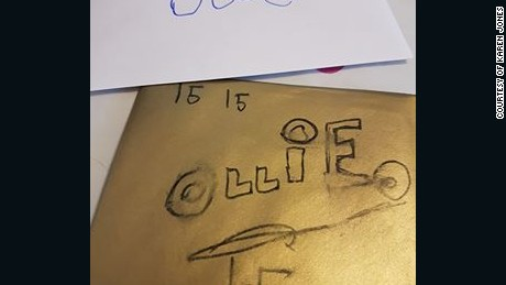 The Two Cards Ollie Had Initially Made For Himself His 15th Birthday
