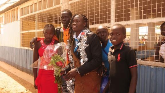 Olympic Refugee Team athletes were treated as heroes on their return to Kakuma refugee camp in Kenya.