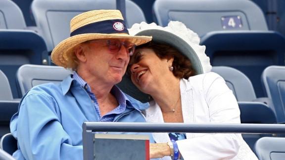 Wilder and his wife, Karen, attend a U.S. Open tennis match in 2007.