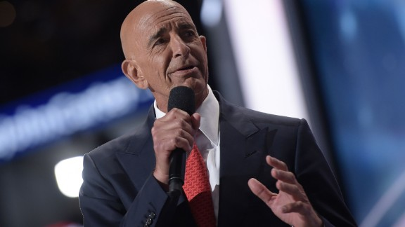 CEO of Colony Capital Tom Barrack speaks during the Republican National Convention at the Quicken Loans Arena in Cleveland, Ohio on July 21, 2016. / AFP / Brendan Smialowski        (Photo credit should read BRENDAN SMIALOWSKI/AFP/Getty Images)