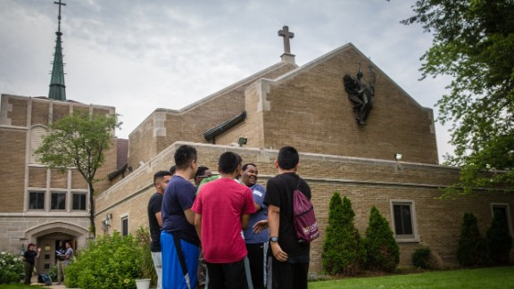 Arrupe students participate in a summer enrichment program at the Loyola University campus in Woodstock, Illinois.