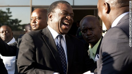Former Vice President   Emmerson Mnangagwa is in hiding.