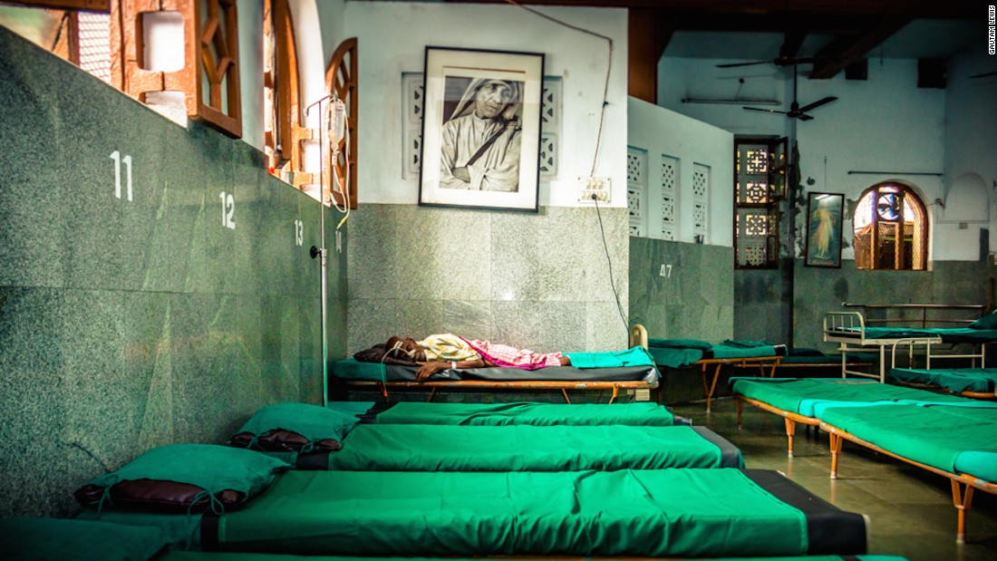 "The Home for the Dying and Destitute was the first home Mother Teresa set up when she came to Kolkata. ""I've never taken a photograph of a dying person before,"" says Gautam. ""It's something I'll never forget."""