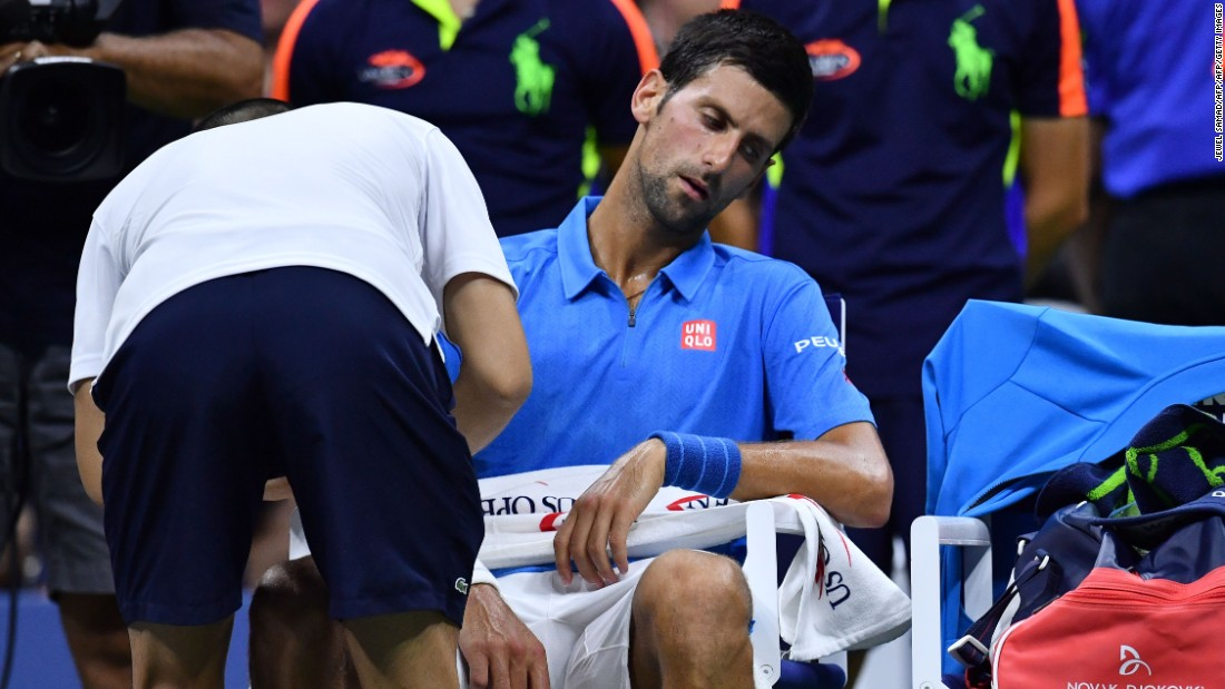 Us Open 2016 Novak Djokovic Downplays Injury Cnn