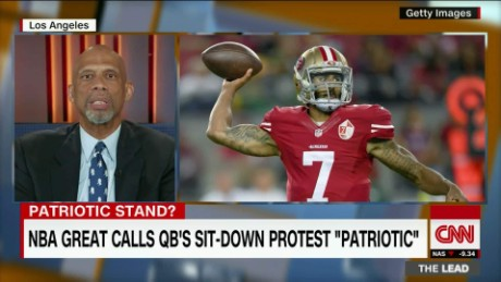 "NBA great calls Kaepernick's protest ""patriotic"""