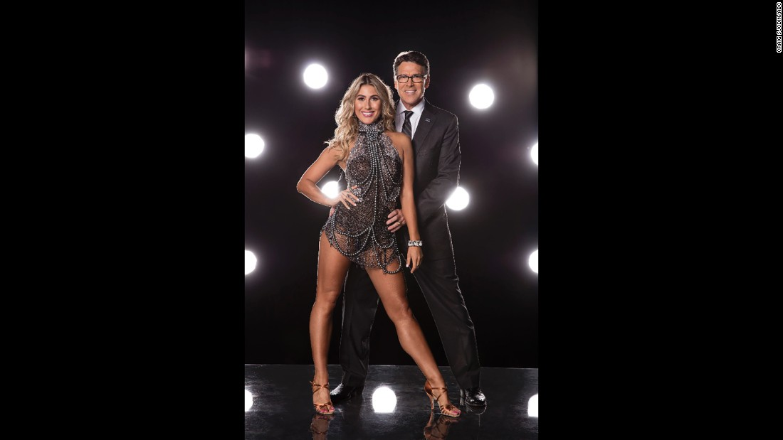 Pro dancer Emma Slater and former Texas Governor Rick Perry.