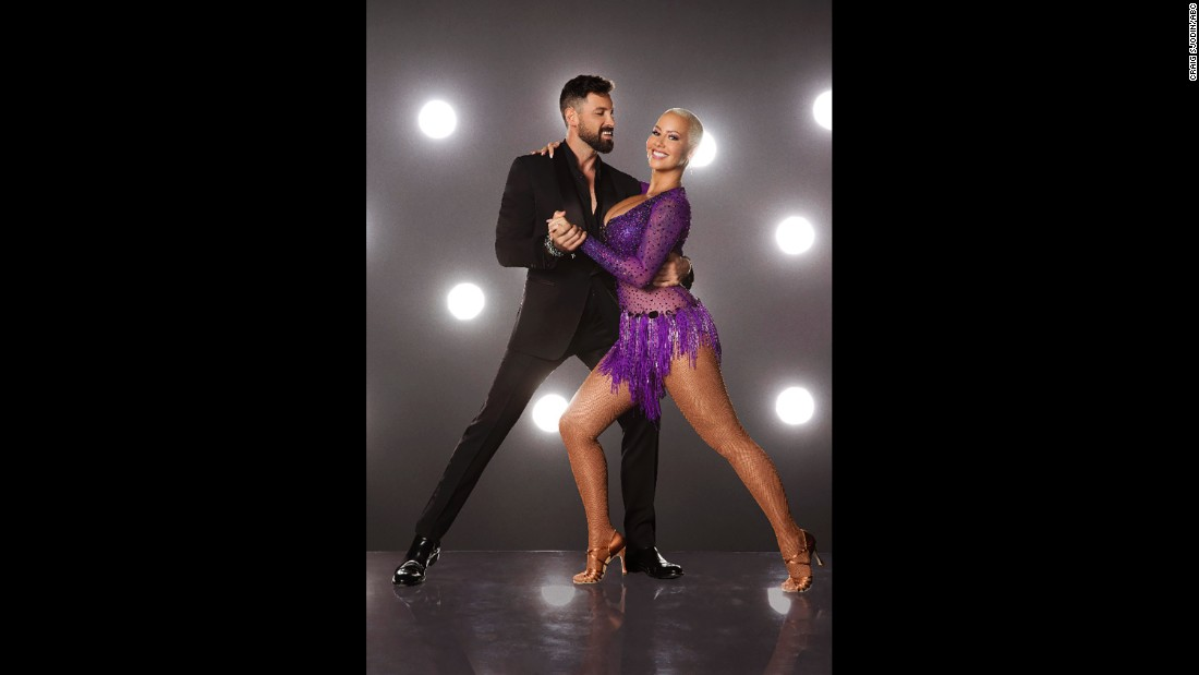 Pro dancer Maksim Chmerkovskiy and talk show host Amber Rose.