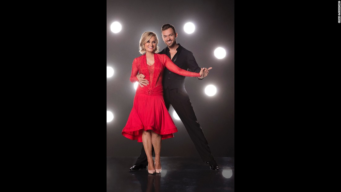 Actress Maureen McCormick and pro dancer Artem Chigvintsev.