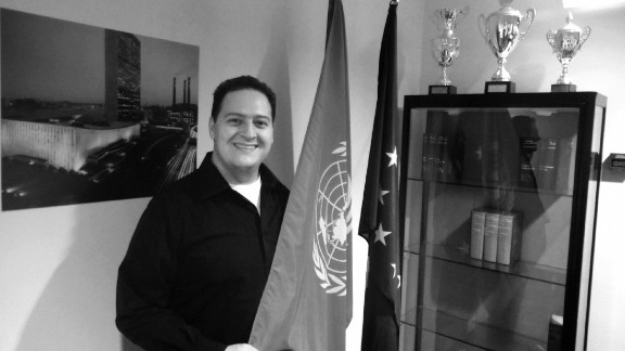 """The United Nations hosted Marroquin and screened """"Sins of My Father"""" to mark the 2010 International Day of Peace."""